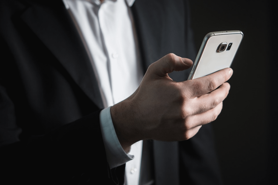 a person using a smartphone